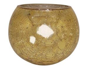 Windlicht Crackle gold ø ca. 15 cm