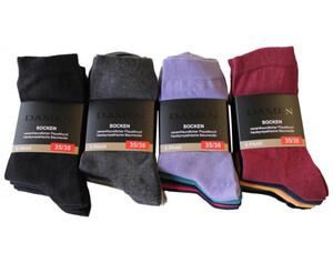 Damen Socken, 5er Pack uni sortiert, Größe 35/38