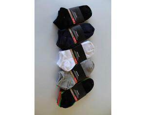 Damen Sneakersocken, 5er Pack uni sortiert, Größe 35/38