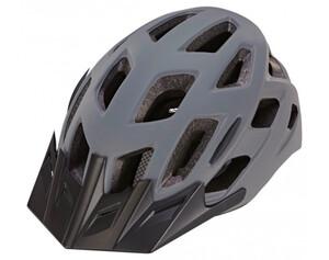 Fahrradhelm grau-schwarz mit LED