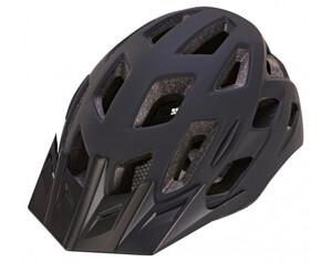Fahrradhelm schwarz mit LED