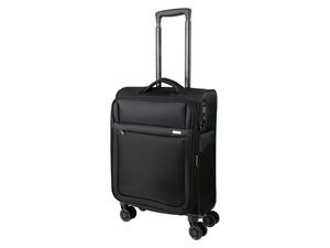 TOPMOVE® Trolley Koffer, 35 l Volumen, 4 Rollen, mit Zahlenschloss, schwarz