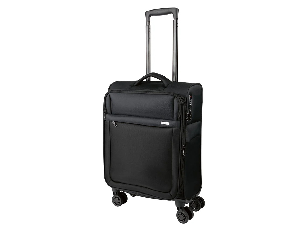 Bild 1 von TOPMOVE® Trolley Koffer, 35 l Volumen, 4 Rollen, mit Zahlenschloss, schwarz