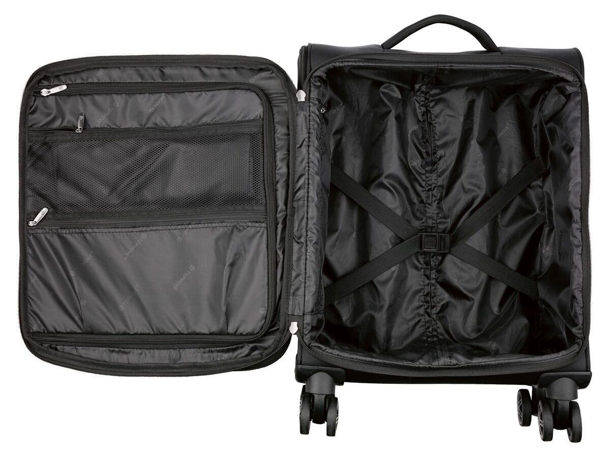 Bild 3 von TOPMOVE® Trolley Koffer, 35 l Volumen, 4 Rollen, mit Zahlenschloss, schwarz