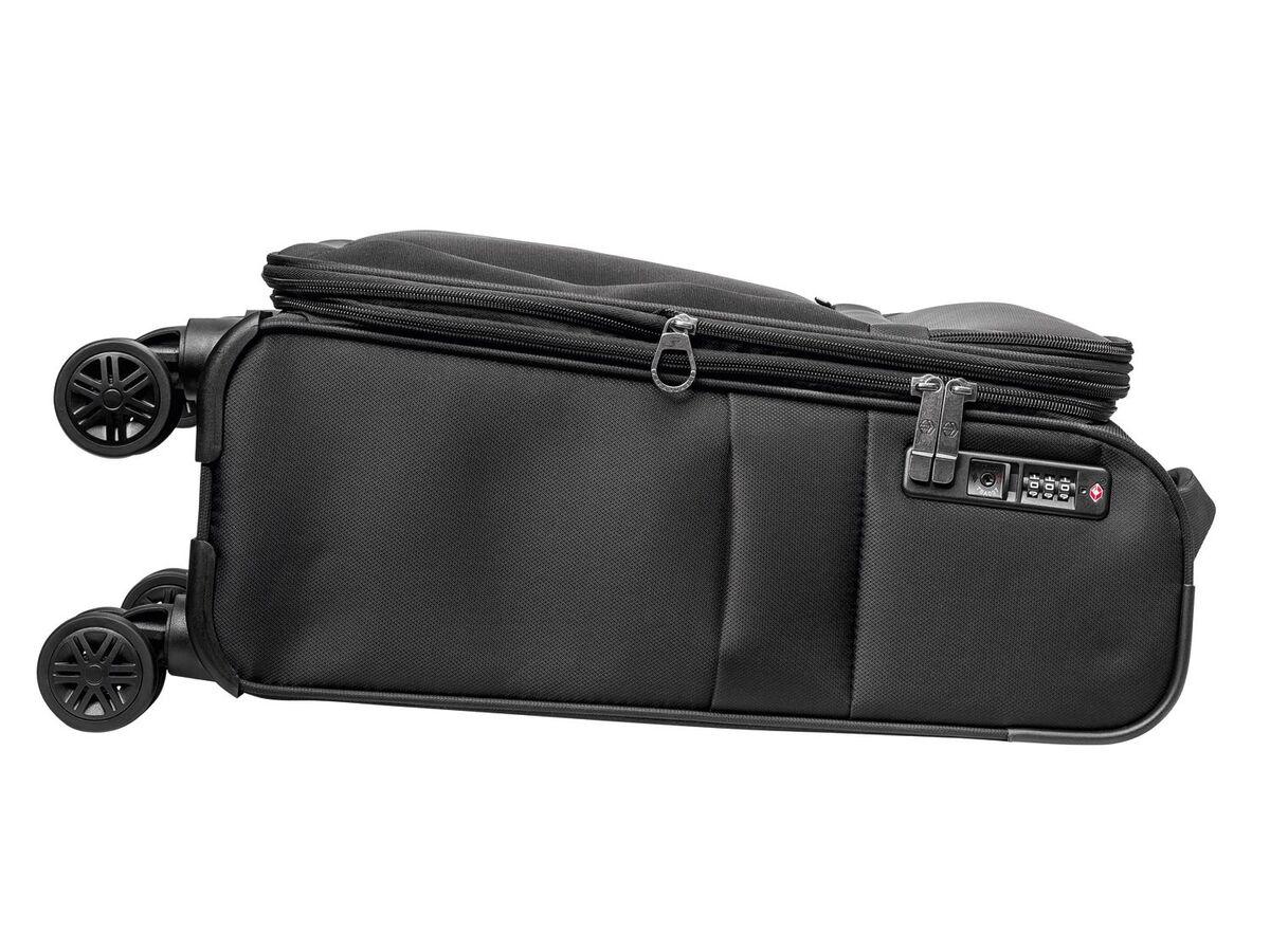 Bild 4 von TOPMOVE® Trolley Koffer, 35 l Volumen, 4 Rollen, mit Zahlenschloss, schwarz