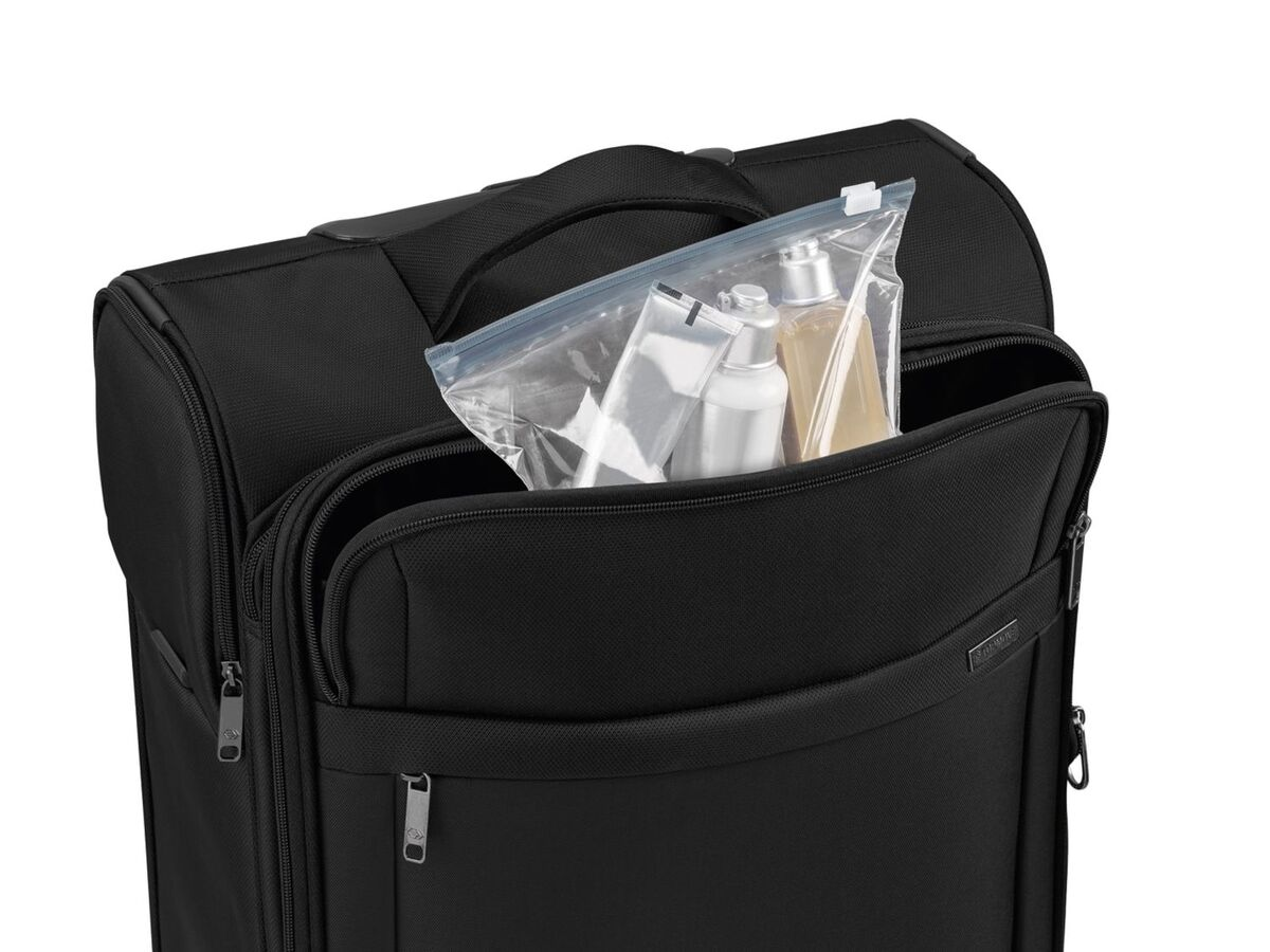 Bild 5 von TOPMOVE® Trolley Koffer, 35 l Volumen, 4 Rollen, mit Zahlenschloss, schwarz