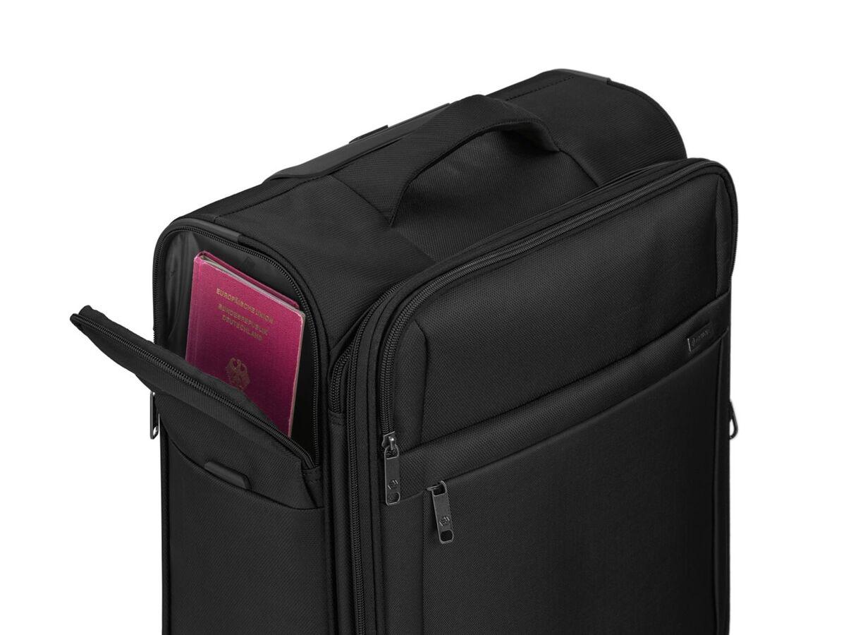 Bild 6 von TOPMOVE® Trolley Koffer, 35 l Volumen, 4 Rollen, mit Zahlenschloss, schwarz