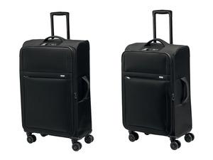 TOPMOVE® Koffer Set, 2-teilig, 62 und 96 l Volumen, 4 Rollen, schwarz