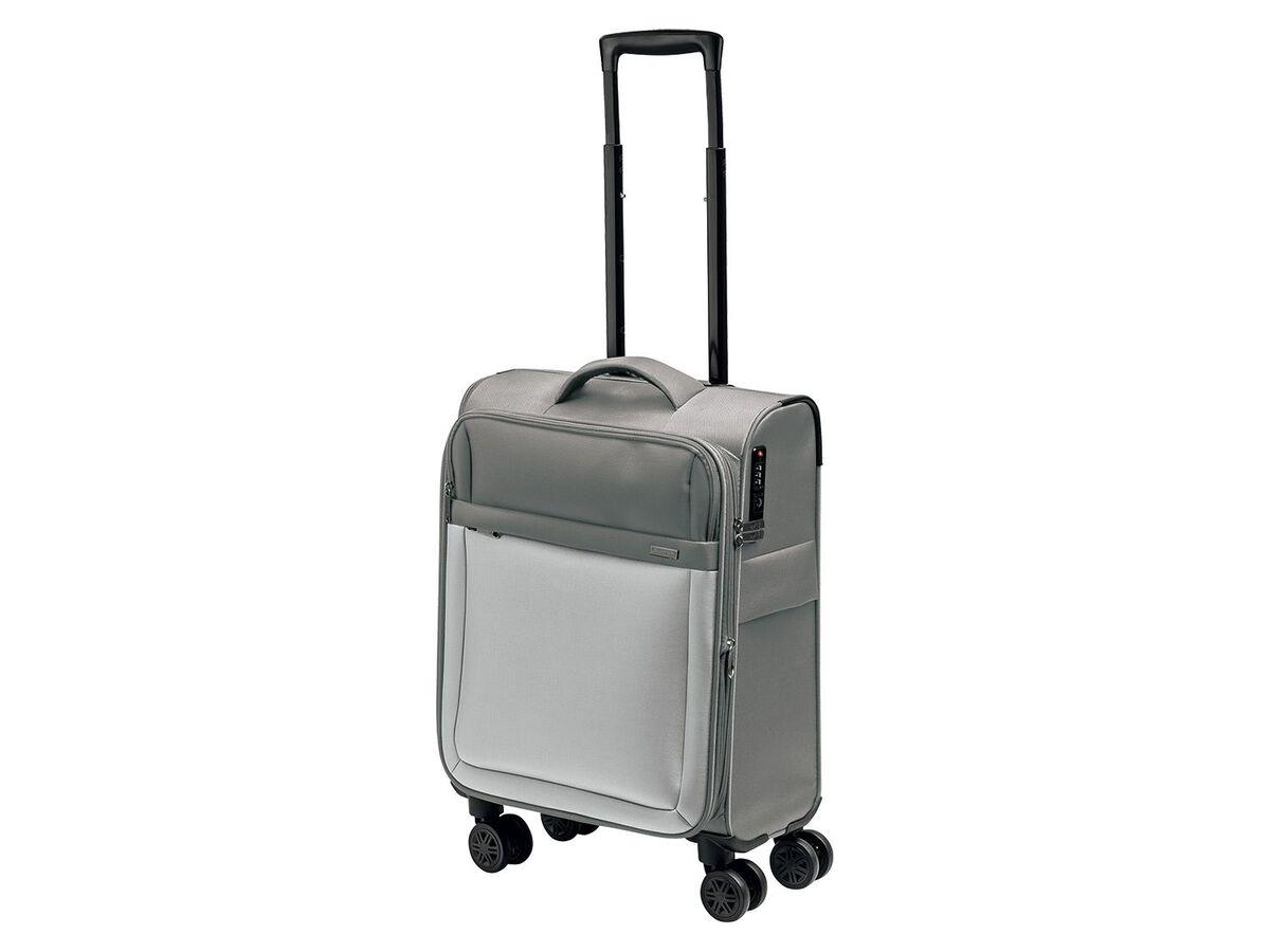 Bild 1 von TOPMOVE® Trolley Koffer, 35 l Volumen, 4 Rollen, mit Zahlenschloss, grau