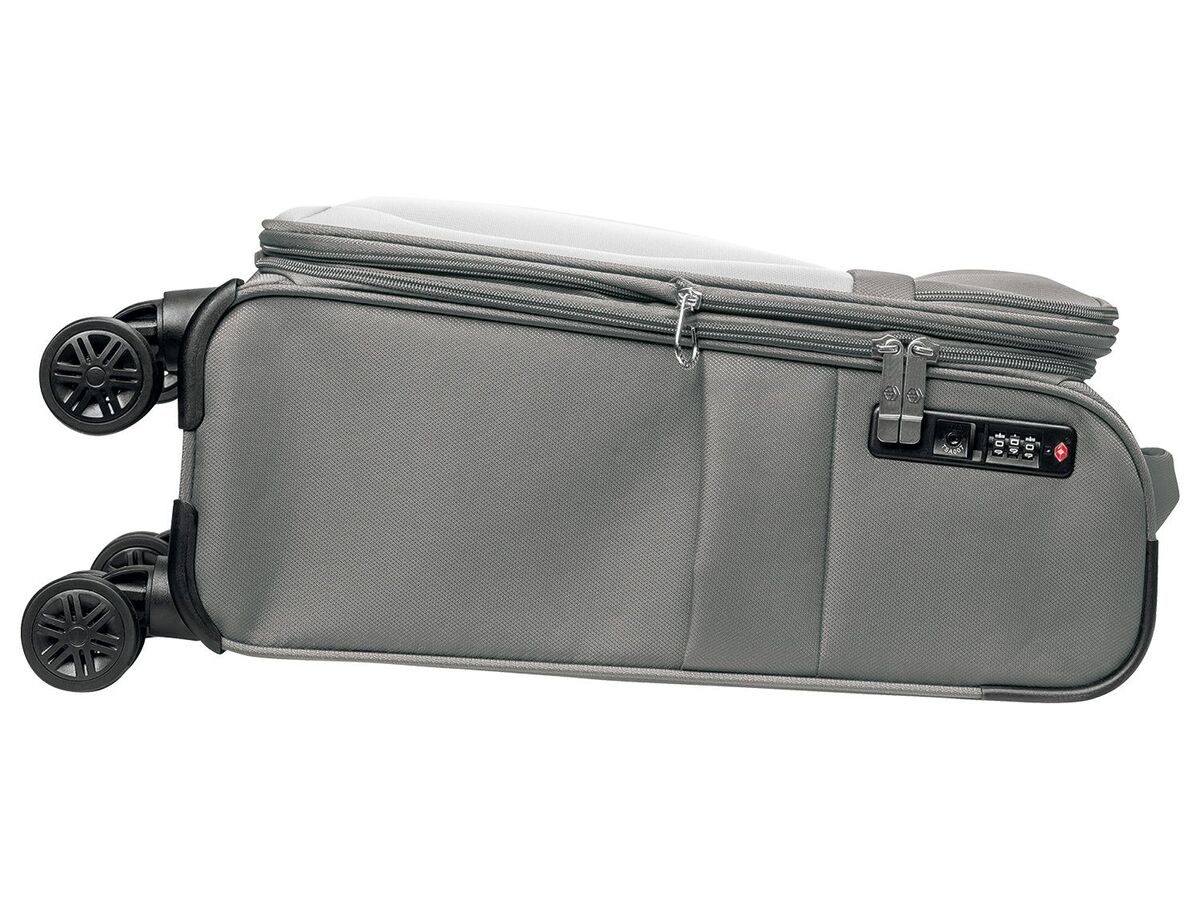 Bild 3 von TOPMOVE® Trolley Koffer, 35 l Volumen, 4 Rollen, mit Zahlenschloss, grau