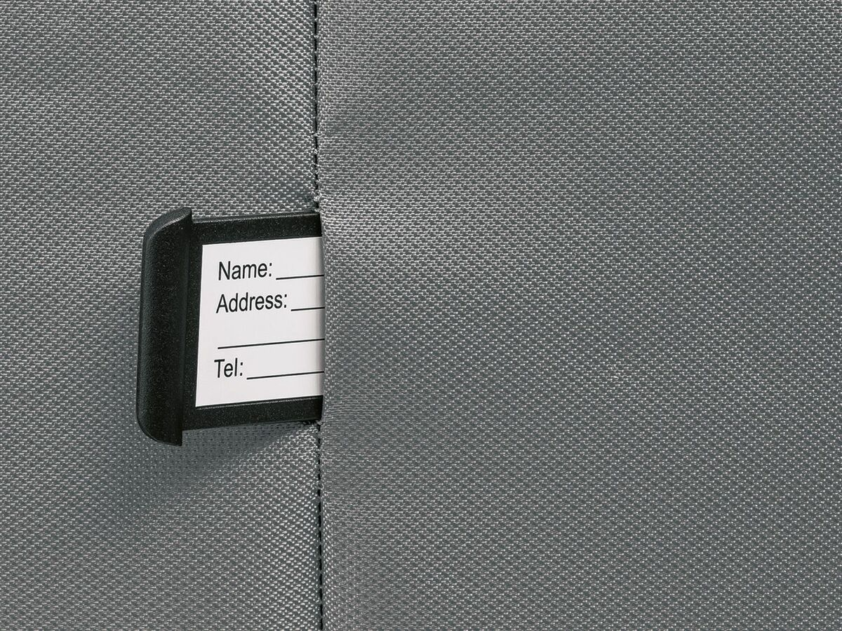 Bild 4 von TOPMOVE® Trolley Koffer, 35 l Volumen, 4 Rollen, mit Zahlenschloss, grau