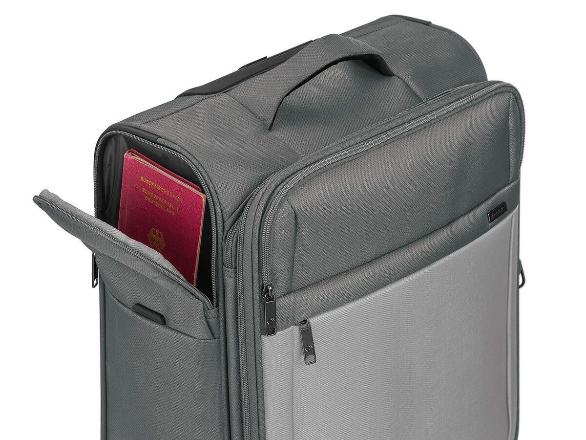 Bild 6 von TOPMOVE® Trolley Koffer, 35 l Volumen, 4 Rollen, mit Zahlenschloss, grau