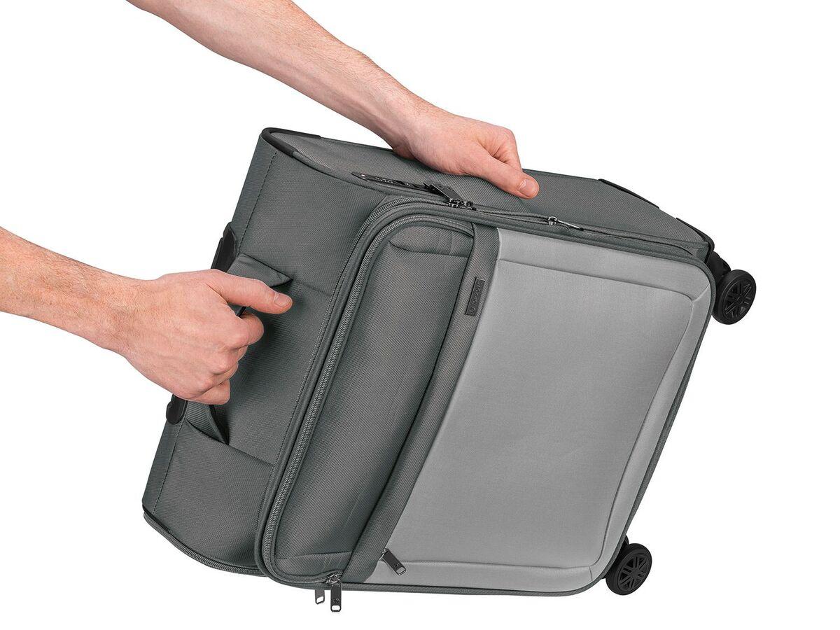Bild 8 von TOPMOVE® Trolley Koffer, 35 l Volumen, 4 Rollen, mit Zahlenschloss, grau