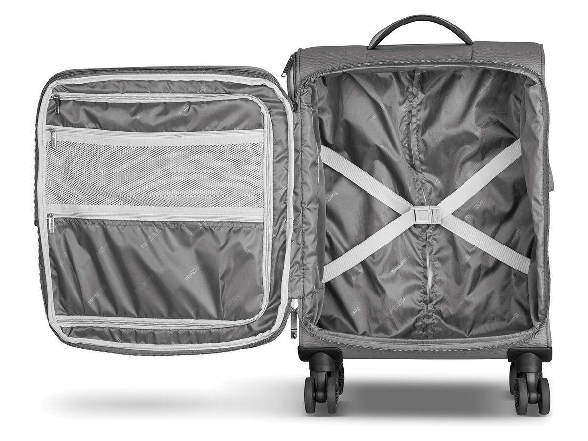 Bild 9 von TOPMOVE® Trolley Koffer, 35 l Volumen, 4 Rollen, mit Zahlenschloss, grau