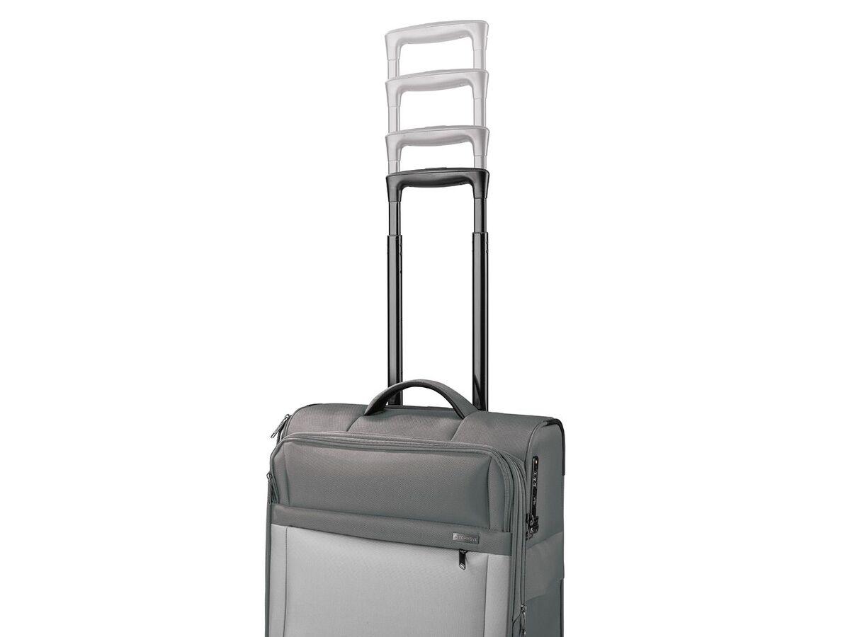 Bild 10 von TOPMOVE® Trolley Koffer, 35 l Volumen, 4 Rollen, mit Zahlenschloss, grau