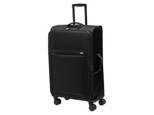TOPMOVE® Koffer, 96 l Volumen, erweiterbar, 4 Rollen, mit Zahlenschloss, schwarz