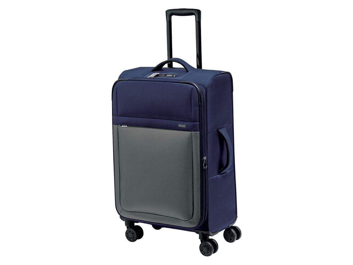 Bild 1 von TOPMOVE® Koffer, 62 l Volumen, 4 Rollen, mit Zahlenschloss, blau/grau