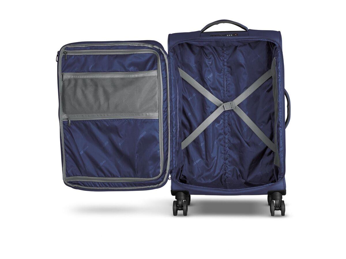 Bild 2 von TOPMOVE® Koffer, 62 l Volumen, 4 Rollen, mit Zahlenschloss, blau/grau