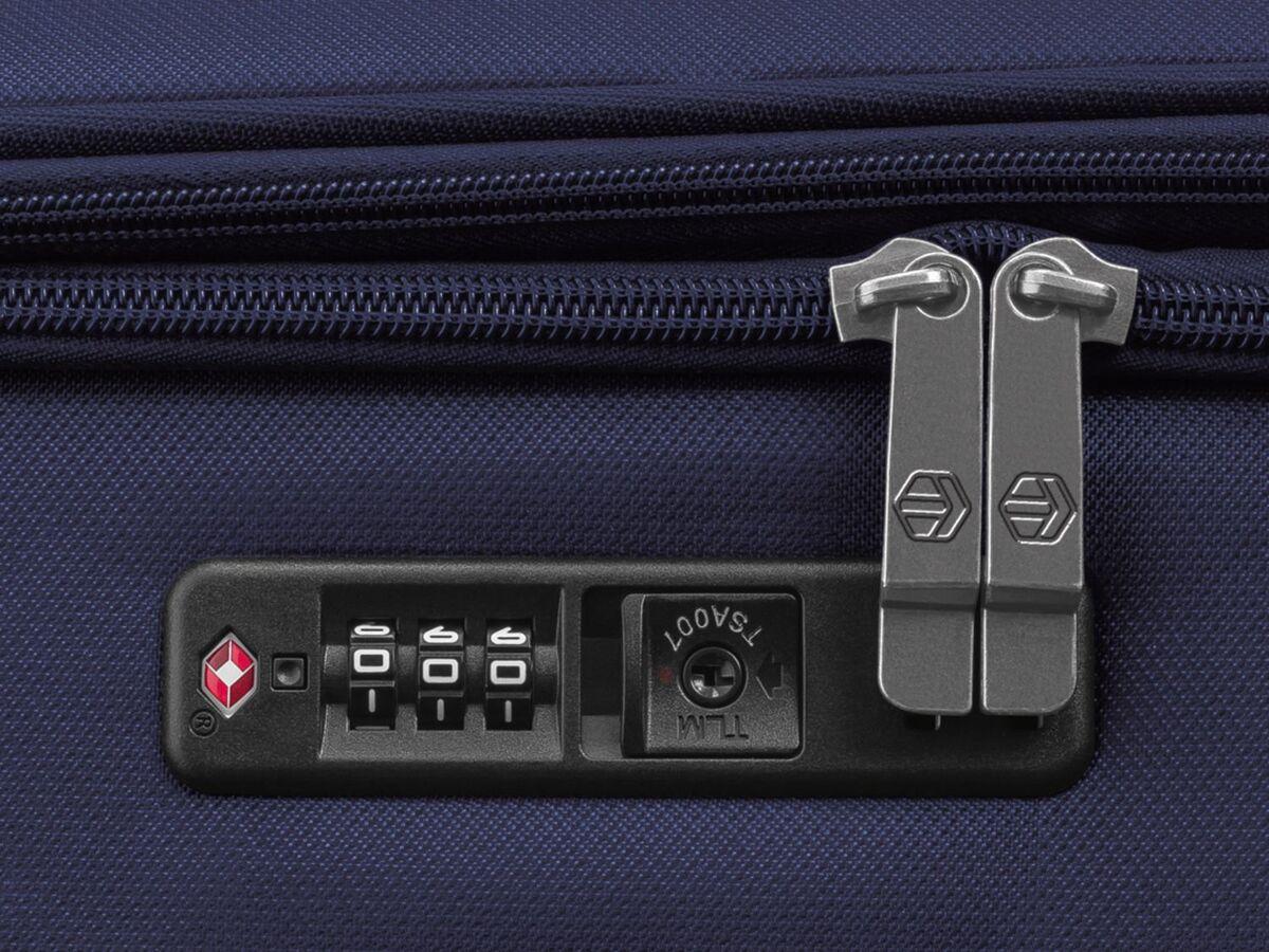 Bild 5 von TOPMOVE® Koffer, 62 l Volumen, 4 Rollen, mit Zahlenschloss, blau/grau
