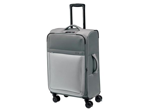 TOPMOVE® Koffer, 62 l Volumen, 4 Rollen, mit Zahlenschloss, grau
