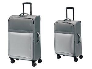 TOPMOVE® Koffer Set, 2-teilig, 62 und 96 l Volumen, 4 Rollen, grau