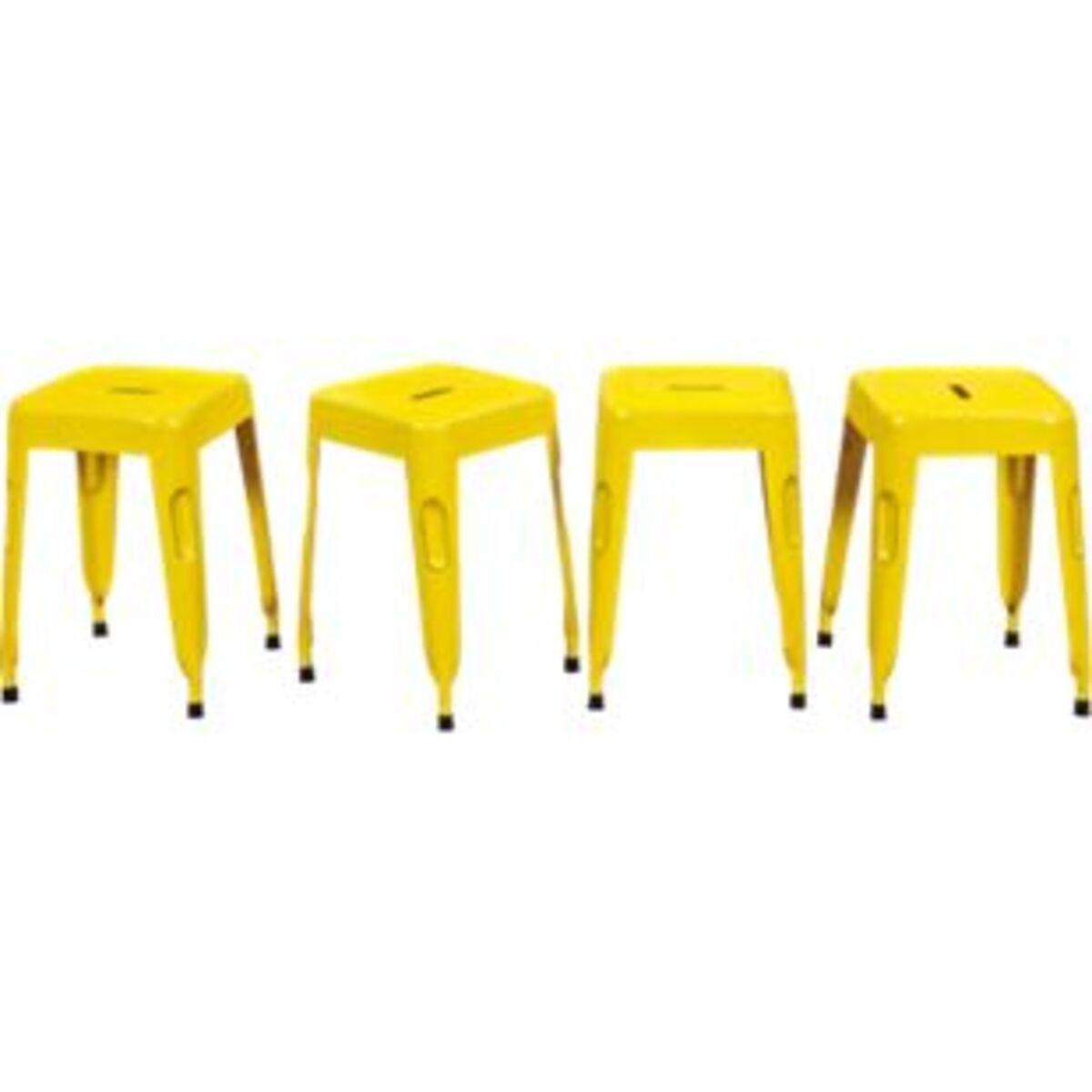 Bild 2 von Inter Link Metallhocker Melange gelb  (VPE: 4 Stk)