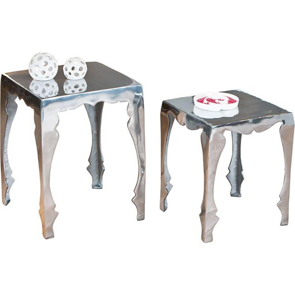 Bild 1 von Inter Link Beistelltisch-Set Solta Aluminium