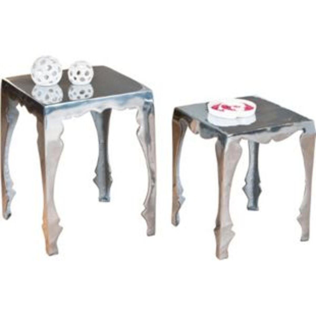 Bild 2 von Inter Link Beistelltisch-Set Solta Aluminium