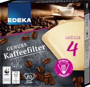 EDEKA Unsere besten Kaffeefilter Größe 4 80 Stück