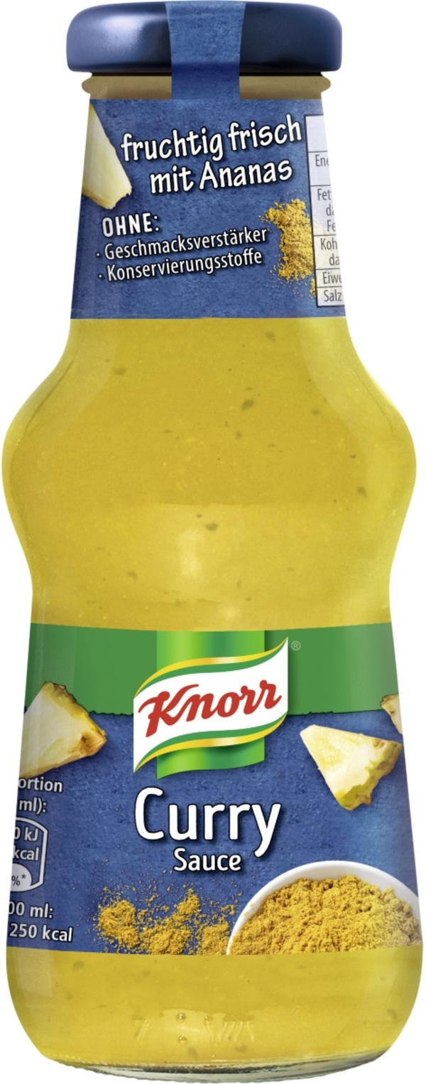 Knorr Curry Sauce 250 ml