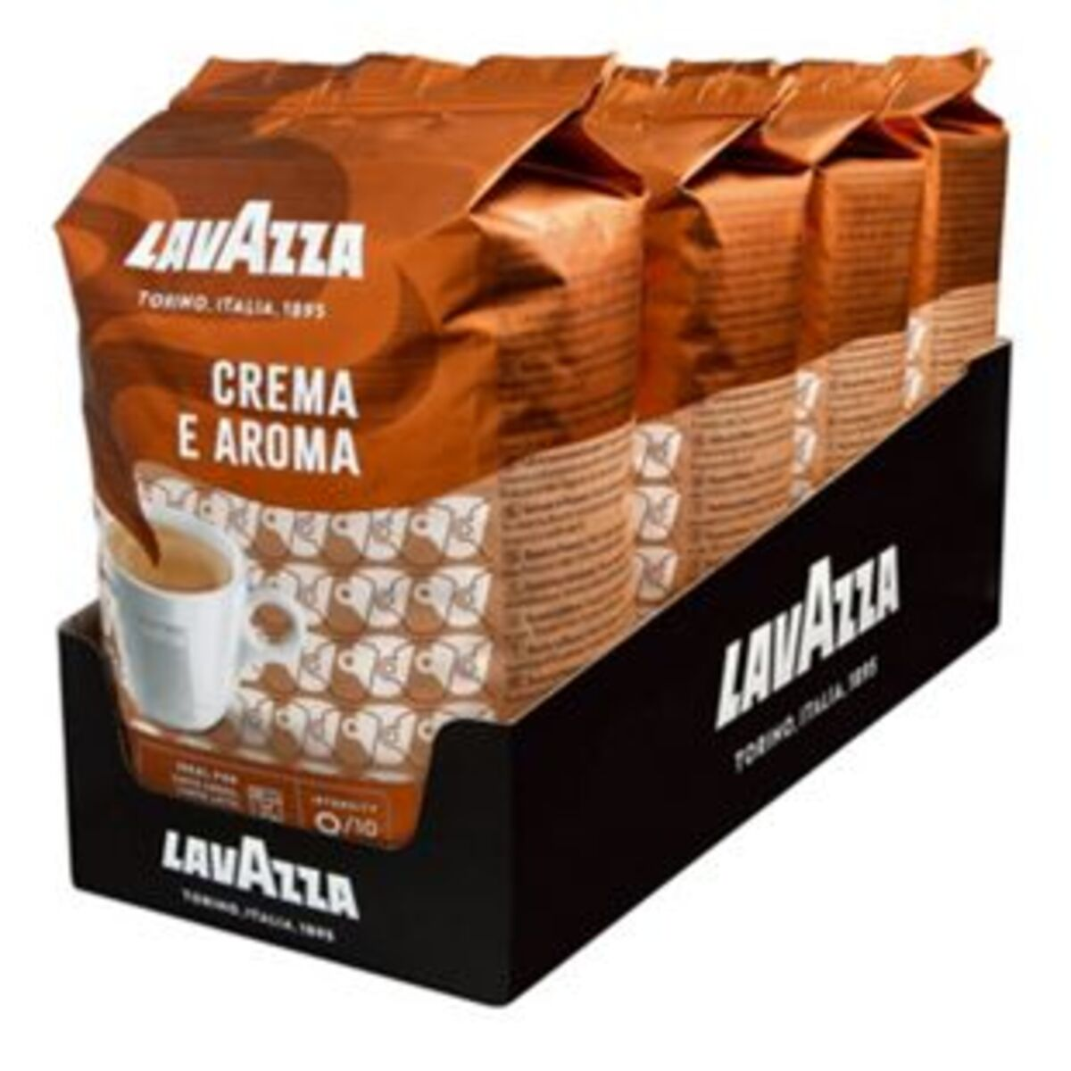 Bild 2 von Lavazza, ganze Kaffeebohnen Kaffee Crema a Aroma 1 kg, 4er Pack