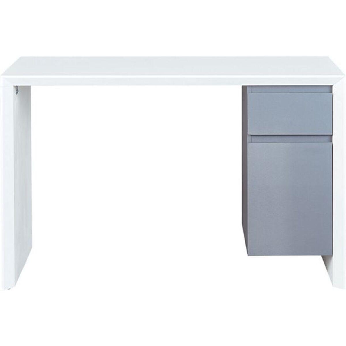 Bild 1 von Inter Link Schreibtisch Megara in Weiss und Grau mit 1 Schublade und 1 Tür