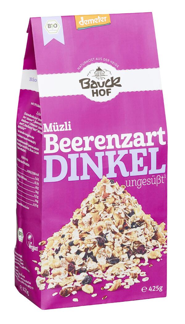 Bauckhof Demeter Bio Müzli Beerenzart ungesüßt 425 g