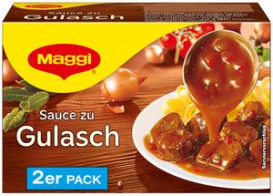 Maggi Sauce zu Gulasch ergibt 2x 250 ml