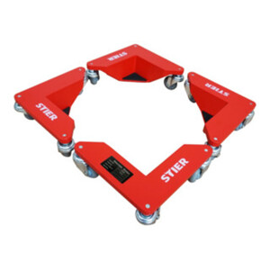 STIER Alu-Eckenroller-Set Tragkraft 100 kg 305x165x85 mm
