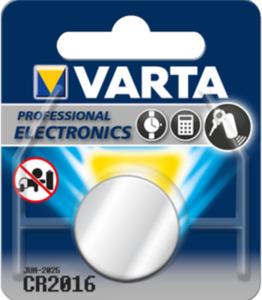 Varta Knopfzelle CR2016 Lithium 1 Stück