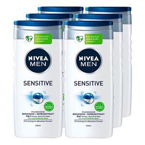 NIVEA MEN Sensitive Pflegedusche 250 ml, 6er Pack