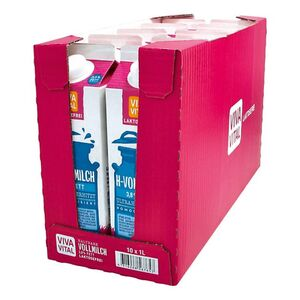 Viva Vital Laktosefreie H-Milch 3,8% Fett 1 Liter, 10er Pack