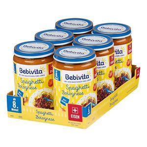 Bebivita Menü Spaghetti Bolognese 220 g, 6er Pack