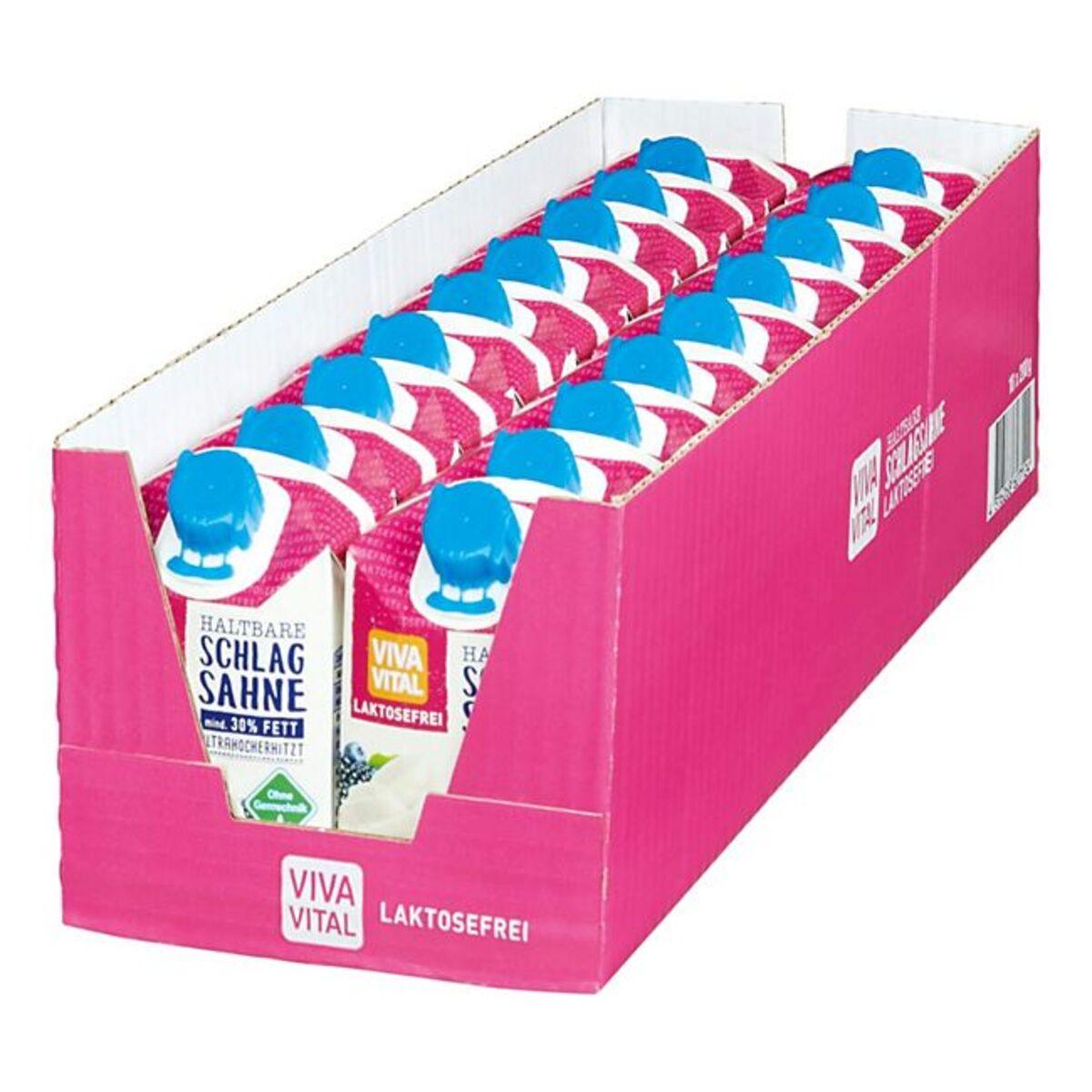 Bild 1 von Viva Vital Laktosefreie H-Schlagsahne 30% Fett 200 g, 18er Pack