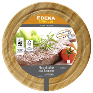 EDEKA zuhause Fleischteller aus Bambus 26 cm 1 Stück