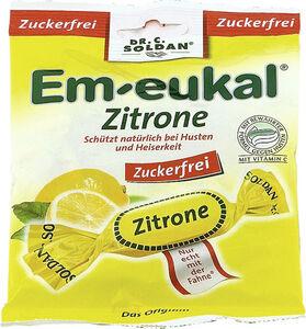 Em-Eukal Zitrone Hustenbonbons zuckerfrei 75 g