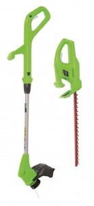 Greenworks Akku- Gartengeräte Set 24 V Rasentrimmer + Heckenschere inkl. 2 Ah Akku und Ladegerät