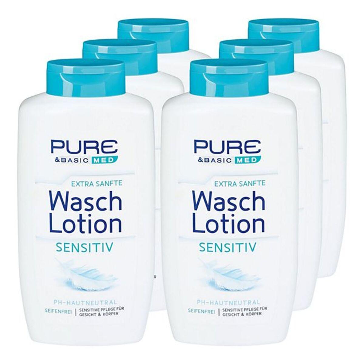 Bild 1 von Pure & Basic Waschlotion Sensitiv 500 ml, 6er Pack