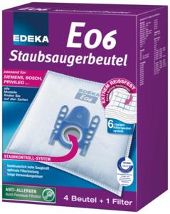 EDEKA Staubsaugerbeutel E06 4 Stück