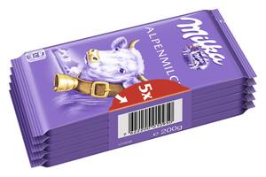 Milka Alpenmilch Schokolade Die Kleine 5x 40 g