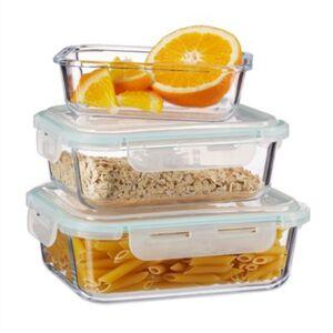 3er Glas Frischhaltedosen-Set transparent