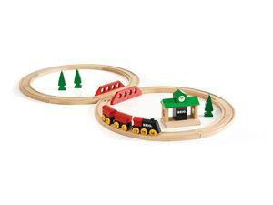 BRIO 33028 »Bahn Acht Set - Classic Line«, 22-teilig, mit Holzzug, ab 2 Jahren