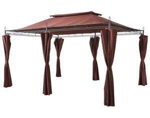 Grasekamp Pavillon Inca braun/mocca 3x4m