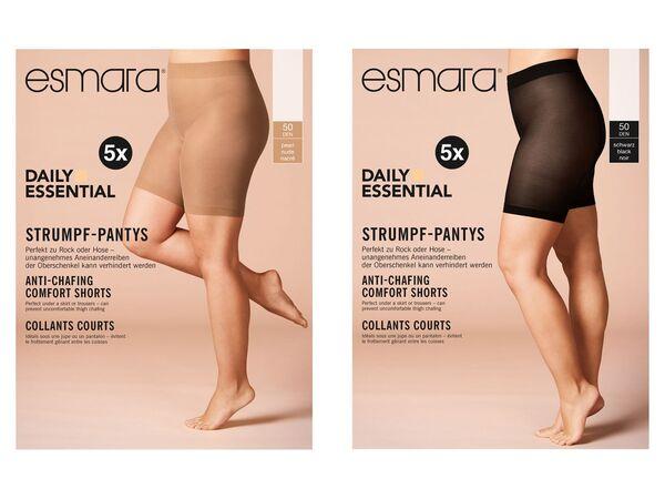 ESMARA® Strumpf-Panties Damen, 5 Stück, 50 DEN, mit bequemen Komfortbund, mit Elasthan